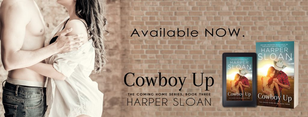 cowboy up Available now banner feel the book